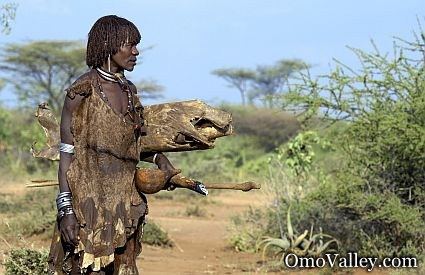 A woman of the Hamer tribe in southern Ethiopia