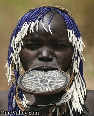 Mursi Woman with famous lip plate