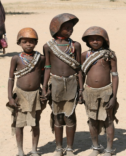 Young boys of the Arbore tribe